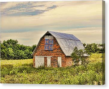 Electric Fan Quilt Barn Canvas Print by Cricket Hackmann