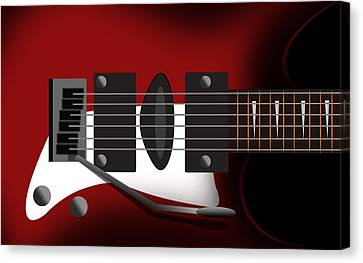 Electric Guitar Canvas Print by Mark Ashkenazi