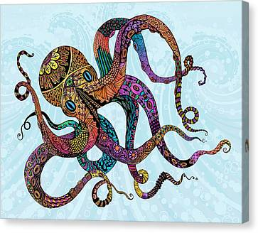 Electric Octopus Canvas Print by Tammy Wetzel
