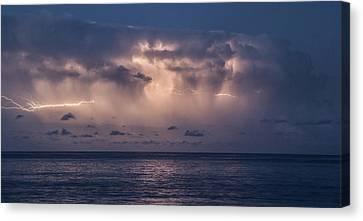 Electric Skys Canvas Print by Brad Scott
