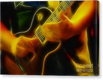 Electric Slide Fractal Canvas Print by Gary Gingrich Galleries