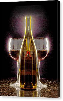 Electric Wine Canvas Print by Jon Neidert