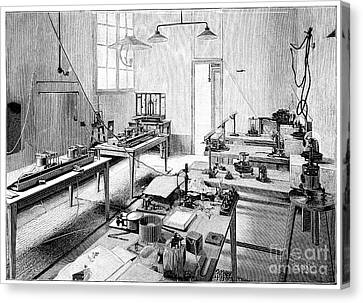 Electrical Certification, 19th Century Canvas Print by Spl