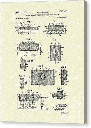 Electrical Circuit 1951 Patent Art Canvas Print by Prior Art Design