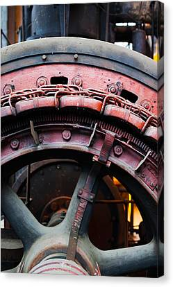 Electrical Power Room At Puits Couriot Canvas Print by Panoramic Images