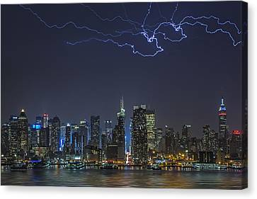 Electrifying New York City Canvas Print by Susan Candelario