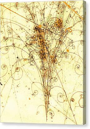 Electron Positron Particle Shower Canvas Print by Spl