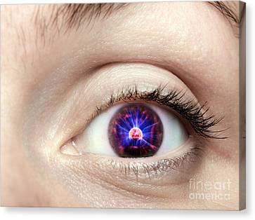 Electronic Eye Canvas Print by Sinisa Botas