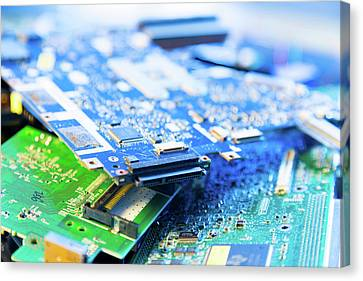 Electronic Printed Circuit Boards Canvas Print by Wladimir Bulgar
