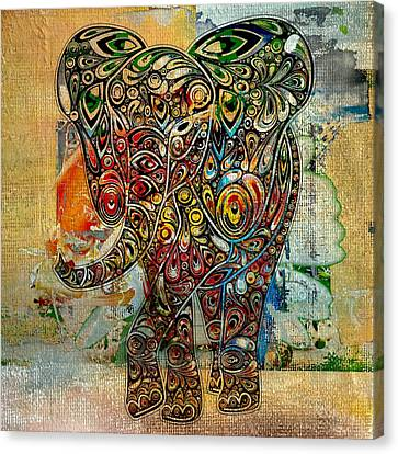 Elefantos - Co01at03 Canvas Print by Variance Collections