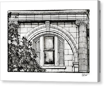 Elegance In The French Quarter In Black And White Canvas Print by Brenda Bryant