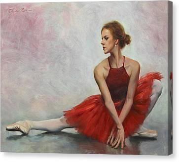 Elegant Lines Canvas Print by Anna Rose Bain
