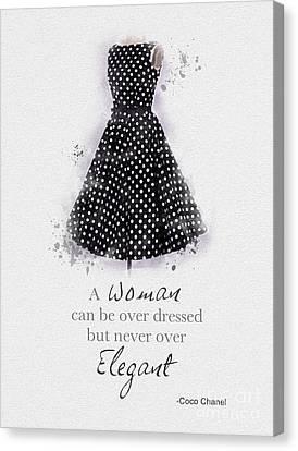 Elegant Canvas Print by Rebecca Jenkins