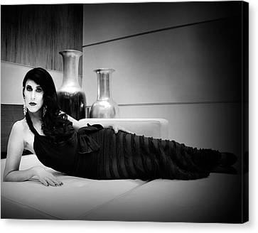 Elegant Seduction Film Noir Canvas Print by William Dey