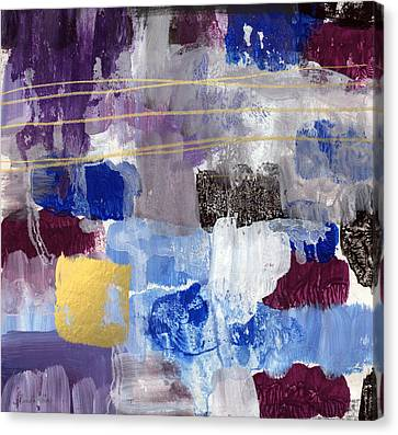 Elemental- Abstract Expressionist Painting Canvas Print by Linda Woods