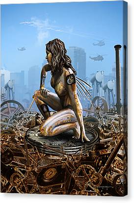 Elements - Metal Canvas Print by Cassiopeia Art