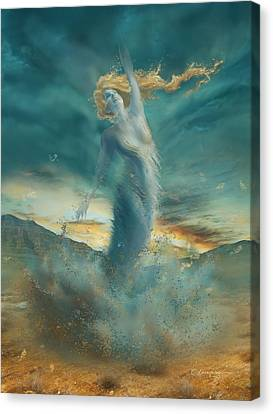 Elements - Wind Canvas Print by Cassiopeia Art