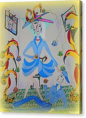 Eleonore Tea Party Canvas Print by Marie Schwarzer