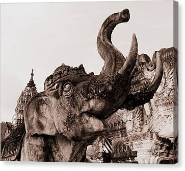 Elephant Architecture Canvas Print by Ramona Johnston
