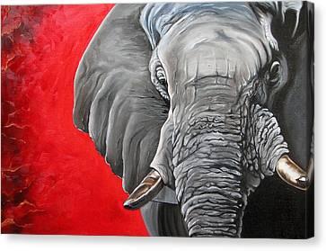 Elephant Canvas Print by Ilse Kleyn