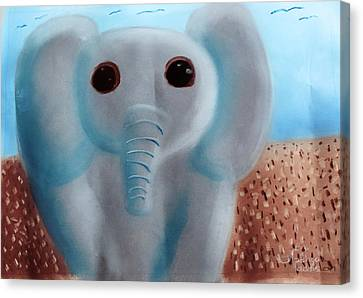 Elephant Canvas Print by Joshua Maddison