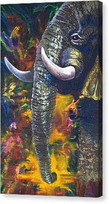 Elephant Canvas Print by Kd Neeley