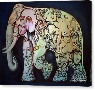 Elephant Canvas Print by Kritsana Tasingh