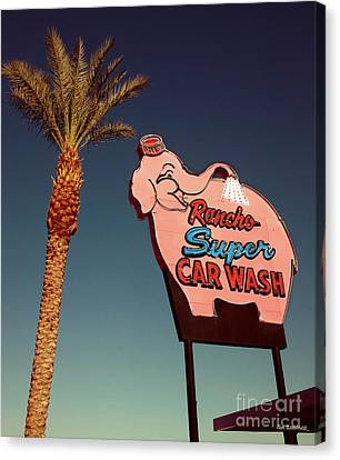 Elephant Car Wash Rancho Mirage California Canvas Print by Jim Zahniser