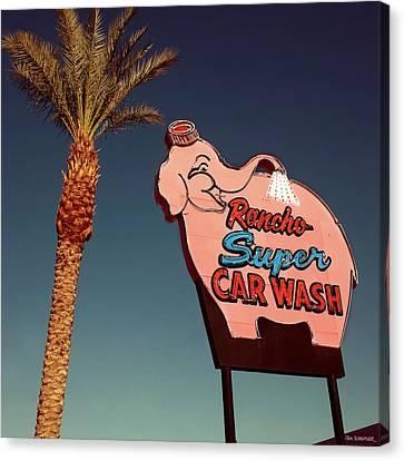Elephant Car Wash Rancho Mirage California Canvas Print by Jim Zahniser