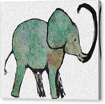 Elephant Water Color Canvas Print by Ellsbeth Page