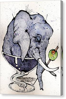 Elephantini Canvas Print by Mark M  Mellon