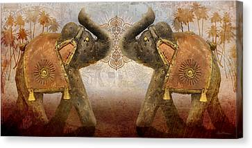 Elephants I Canvas Print by April Moen