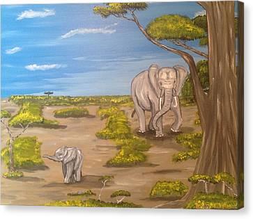 Elephants Canvas Print by Scott Wilmot