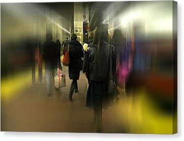 Eleven Forty Six Express Canvas Print by Diana Angstadt