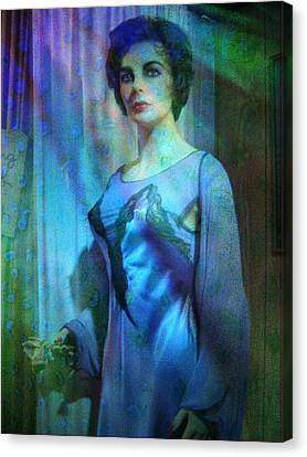 Elizabeth Taylor Canvas Print by Shirley Sirois