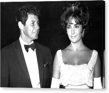 Elizabeth Taylor With Husband Canvas Print by Retro Images Archive