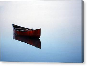 Elizabeth's Canoe Canvas Print by Skip Willits