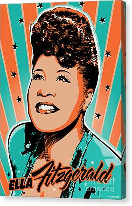 Ella Fitzgerald Pop Art Canvas Print by Jim Zahniser