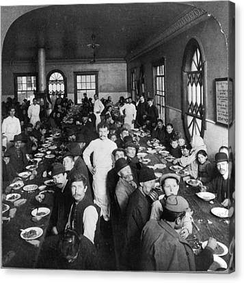 Ellis Island Dining Hall Canvas Print by Granger