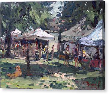 Elmwood-bidwell Farmers Market Canvas Print by Ylli Haruni