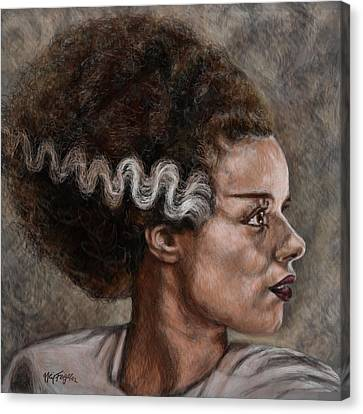 Elsa Lanchester Is The Bride Of Frankenstein Canvas Print by Neil Feigeles
