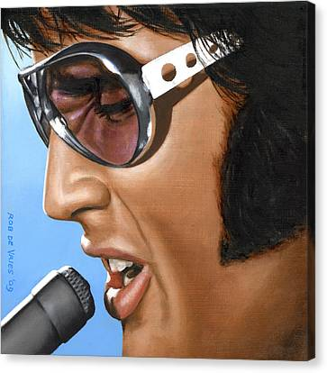 Elvis 24 1970 Canvas Print by Rob De Vries