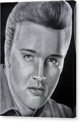 Elvis 56 Canvas Print by Brian Broadway