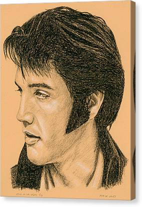 Elvis Las Vegas 69 Canvas Print by Rob De Vries