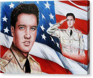 Elvis Patriot  Canvas Print by Andrew Read