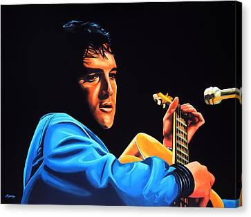 Elvis Presley 2 Painting Canvas Print by Paul Meijering