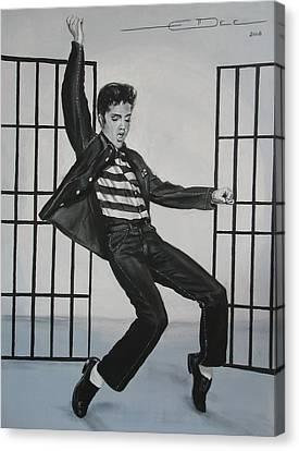 Elvis Presley Jailhouse Rock Canvas Print by Eric Dee