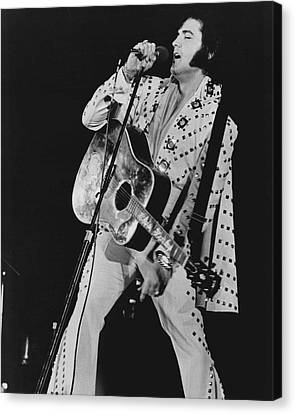 Elvis Presley Sings Canvas Print by Retro Images Archive