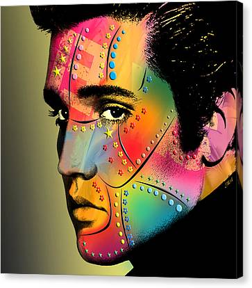 Elvis Presley Canvas Print by Mark Ashkenazi