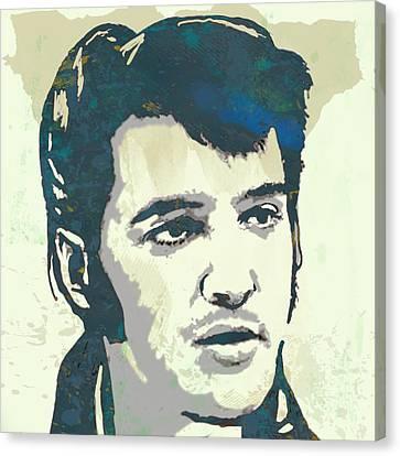 Elvis Presley - Modern Pop Art Poster Canvas Print by Kim Wang